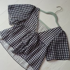 Club Monaco Gingham top